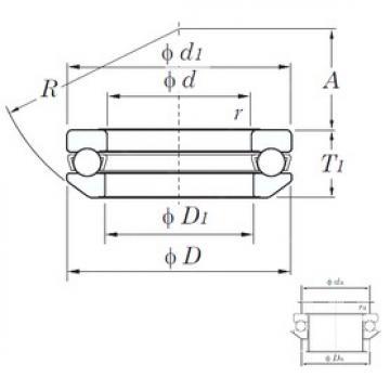 KOYO 53410 thrust ball bearings